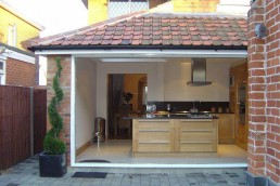 House extension open plan with kitchen