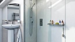 Wet room with shower walk in shower 4