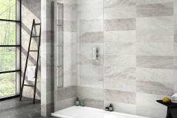 Wet room with walk-in shower