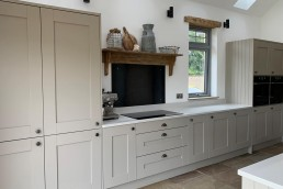 Fitted kitchen with workspace