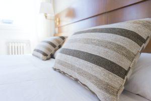 stripes on pillows